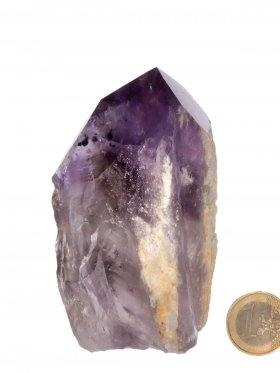 Amethyst, halbpolierte Mineralien - Spitze aus Brasilien, Unikat