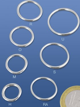 Ring geschlossen, Stärke 2 mm, verschiedene Größen, VE 1 St. - 12 mm