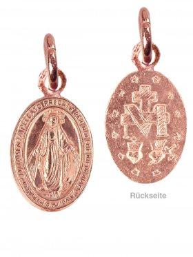 Madonna, Anhänger small, 925 rosévergoldet