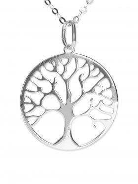 Baum des Lebens (ø 15) inkl. Ankerkette L 38 cm, 925 Silber