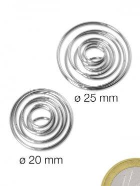 Spiralhalter ø 20 mm, Stahl silberfarben, nickelfrei