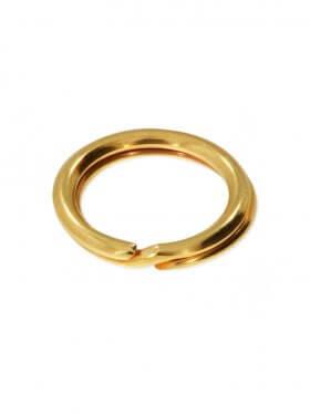 Spaltring, 925 Silber vergoldet, verschiedene Größen, VE 25 St. - ø 5 mm
