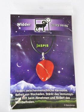 Sternstein Widder, Jaspis rot mit Öse