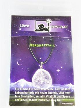 Sternstein Löwe, Bergkristall mit Öse