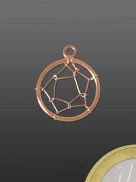 Traumfängernetz mit Öse, 925 rosévergoldet
