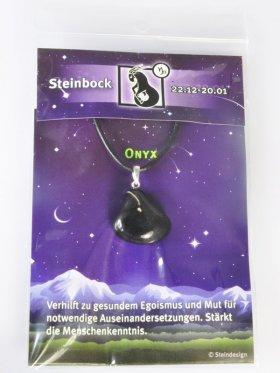Sternstein Steinbock, Onyx mit Öse