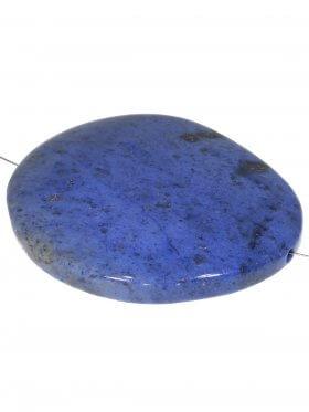 Dumortierit, oval 44/40 mm, Element zum Fädeln, 1 Stück