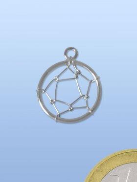 Traumfängernetz mit Öse, 925 Silber