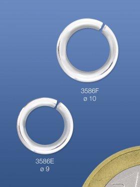 Biegeringe offen, rund, ø 9 / 1,5 mm, 925 Silber - VE 25 St.