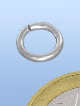 Biegeringe offen, rund, ø 8 / 1 mm, 925 rhodiniert