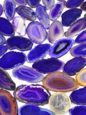 Achatscheiben, gefärbt, verschiedene Farben