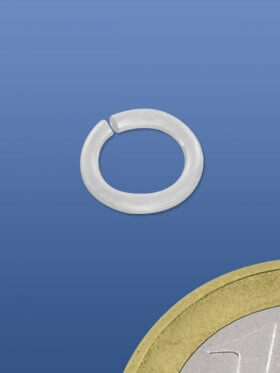 Biegeringe offen, rund, ø 6 / 1 mm, 925 Silber matt - VE 10 St.