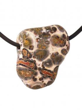 Kettenanhänger aus dem Schmuckstein Leopardenstein, Typ M
