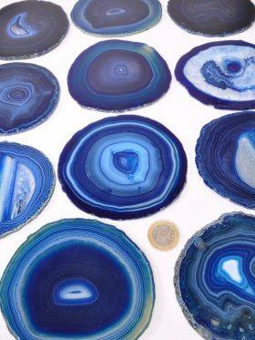 Achatscheiben, gefärbt blautöne