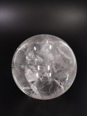 Bergkristall hochtransparent, Kugel, ø 8 cm, Unikat