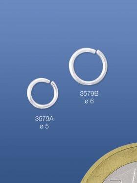 Biegeringe offen, rund, ø 5 / 0,7 mm, 925 Silber - VE 10 St.