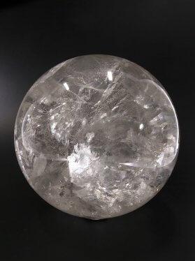 Bergkristall hochtransparent, Kugel, ø 9 cm, Unikat