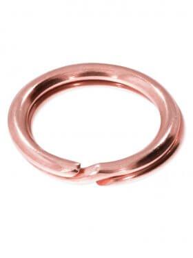 Spaltring, rosévergoldet, verschiedene Größen und VE - ø 7 mm (VE 20 St.)