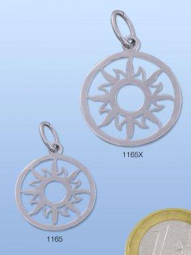 Sonne, Symbolschmuck mit Öse, 925 Silber rhodiniert, VE 1 St.