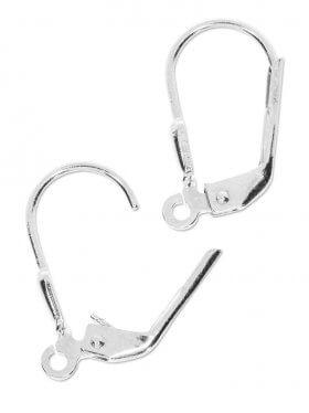 Ohrhaken mit Klappbügel (Brisur) 17 mm, 925 Silber