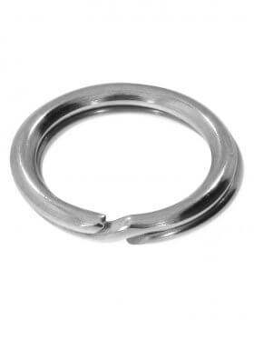 Spaltring, 925 Silber rhodiniert, verschiedene Größen, VE 10 St. - ø 7 mm