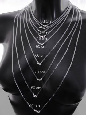 Kautschuk (kristallklar) mit Karabiner, ø 2 m, verschiedene Längen- VE 3 St. - L 38 cm