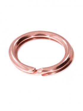 Spaltring, rosévergoldet, verschiedene Größen und VE - ø 6 mm (VE 25 St.)