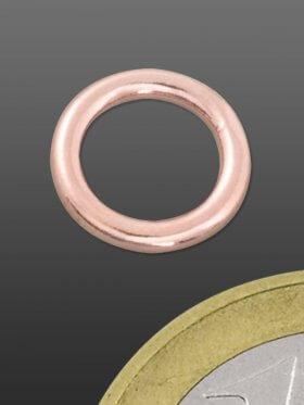 Ring geschlossen ø 9 / 1,7 mm, Silber rose-vergoldet, VE 4 St.
