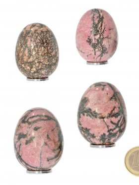 Rhodonit aus Australien, Deko Ei ca. 5 / 3,5 cm, VE 1 St.