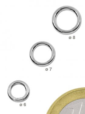 Ring geschlossen, Stärke 1 mm, 925 Silber