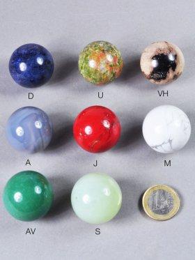 Deko Kugel, ø ca. 3 cm, verschiedene Steinarten