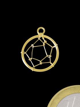 Traumfängernetz mit Öse, 925 vergoldet