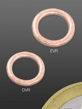 Ring geschlossen gebürstet, ø 9 / 1,5 mm, 925 Silber rosévergoldet