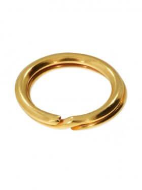 Spaltring, 925 Silber vergoldet, verschiedene Größen, VE 25 St. - ø 6 mm