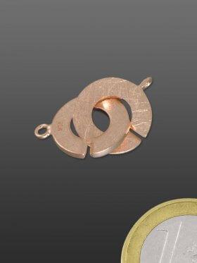 Ring-Ring Verschluss, 925 Silber gebürstet