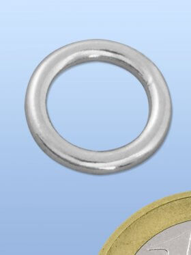 Ring geschlossen ø 14 / 1,5 mm, 925 rhodiniert