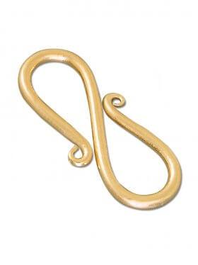 S-Haken, 925 Silber vergoldet, 35 mm (2 St.)