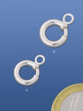 Federring f. Charms mit Ringöffner, verschiedene Größen, VE 4 St. - ø 10 mm