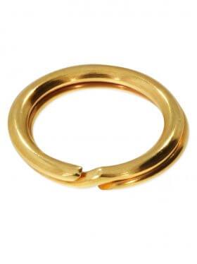 Spaltring, 925 Silber vergoldet, verschiedene Größen, VE 25 St. - ø 7 mm