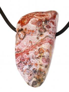 Kettenanhänger aus dem Schmuckstein Leopardenstein, Typ L