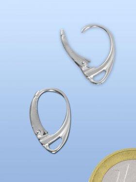 Brisur Milano, 18 mm, Silber rhod., VE 2 Paar