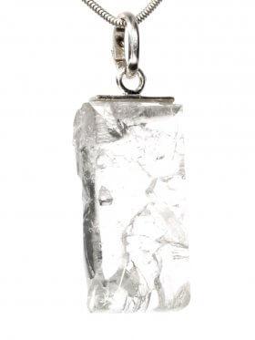 Souvenir aus dem Wallis - Anhänger aus Bergkristall mit Silberöse