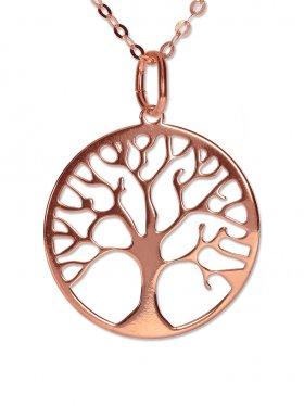 Baum des Lebens (ø 15) inkl. Ankerkette L 38 cm, 925 Silber rosévergoldet