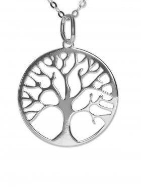 Baum des Lebens (ø 15) inkl. Ankerkette L 38 cm, 925 Silber rhodiniert