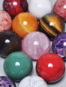 Deko Kugeln, ø ca. 4 cm, verschiedene Steine