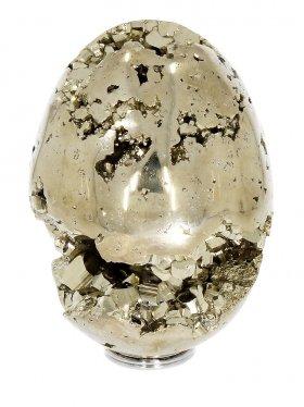 Pyrit Deko Ei aus Peru,  7 / 5 cm, Unikat